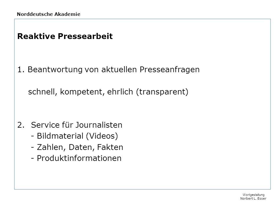 Norddeutsche Akademie Die ersten Stunden entscheiden Ruhe bewahren.