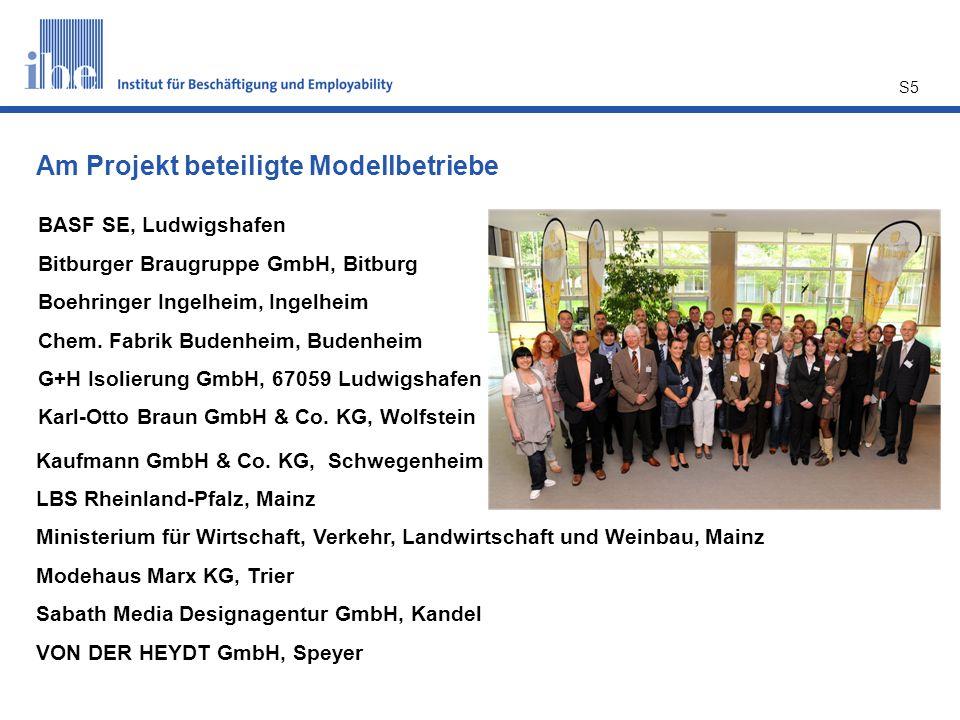 S5 BASF SE, Ludwigshafen Bitburger Braugruppe GmbH, Bitburg Boehringer Ingelheim, Ingelheim Chem. Fabrik Budenheim, Budenheim G+H Isolierung GmbH, 670