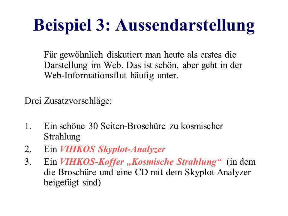 Beispiel 3: Aussendarstellung Für gewöhnlich diskutiert man heute als erstes die Darstellung im Web.