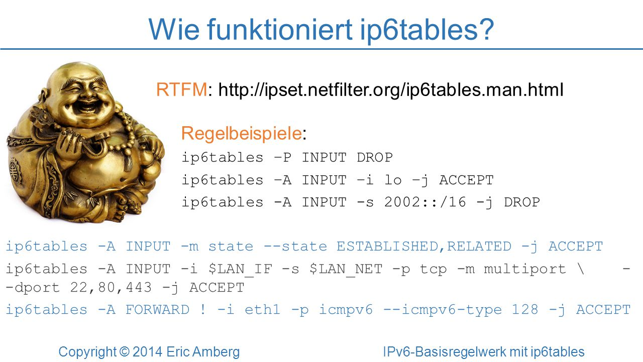 Wie funktioniert ip6tables.