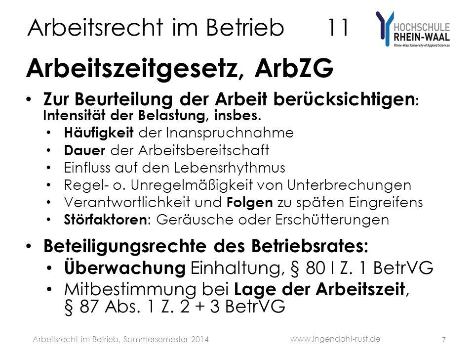 Arbeitsrecht im Betrieb 11 Eignungsuntersuchung AN § 18 II Nr.