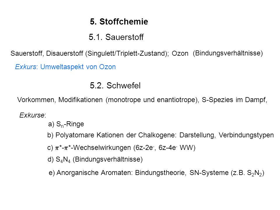 5.Stoffchemie 5.1.