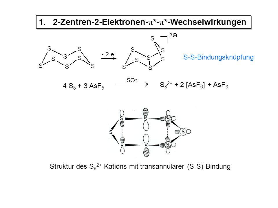 Struktur des S 8 2+ -Kations mit transannularer (S-S)-Bindung 1.