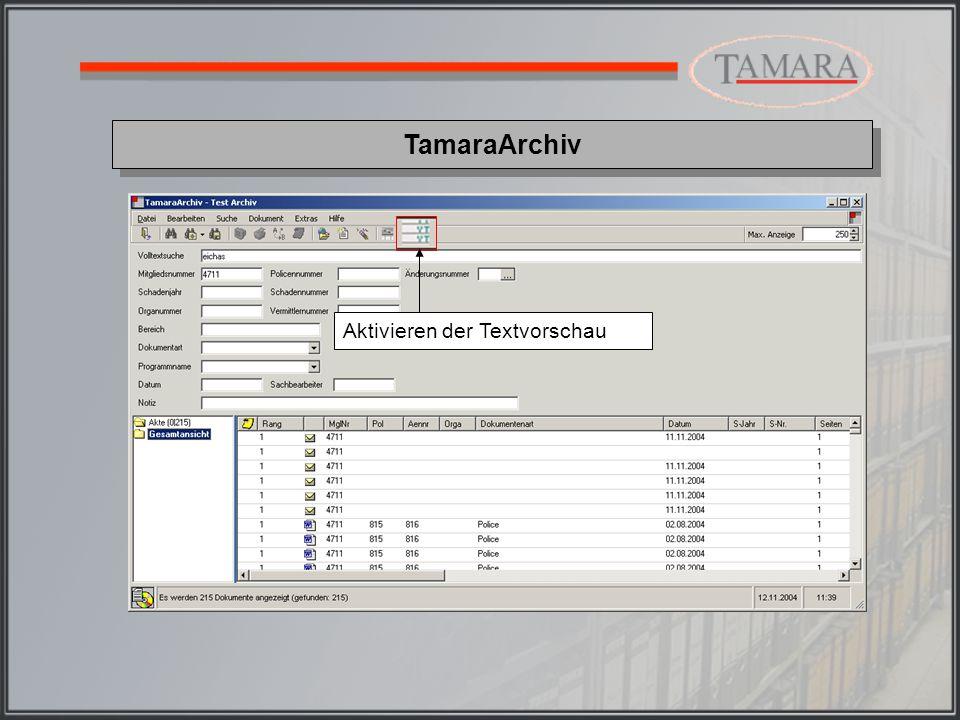 TamaraArchiv Aktivieren der Textvorschau