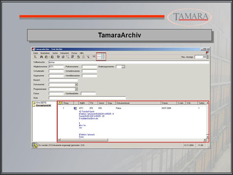 Die Größe des Textbereiches, der in der Vorschau angezeigt wird, kann individuell je Archiv und Arbeitsplatz definiert werden