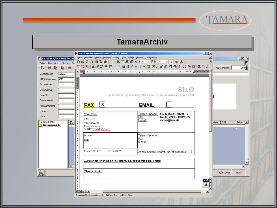 TamaraArchiv Gruppierung der Trefferliste