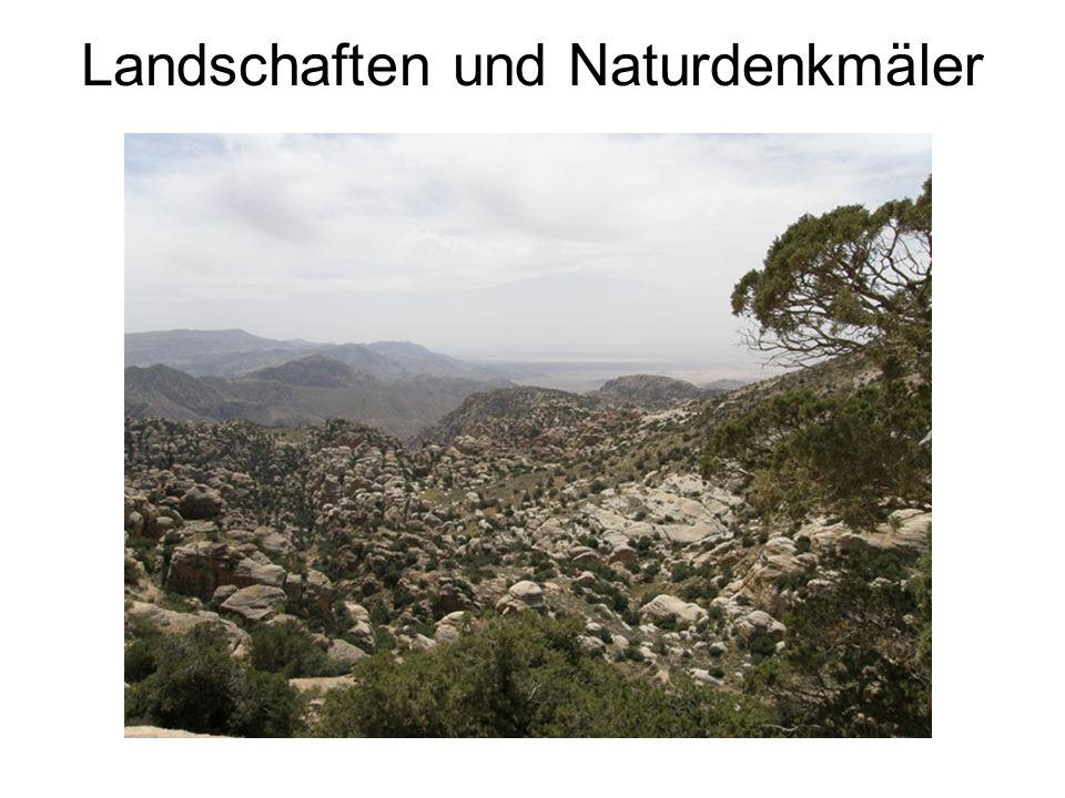 Landschaften und Naturdenkmäler
