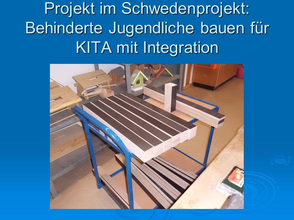 Projekt im Schwedenprojekt: Behinderte Jugendliche bauen für KITA mit Integration