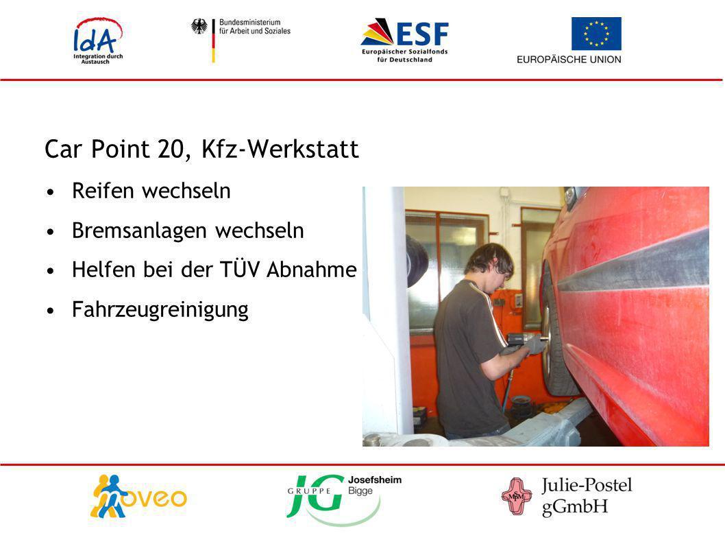 Car Point 20, Kfz-Werkstatt Reifen wechseln Bremsanlagen wechseln Helfen bei der TÜV Abnahme Fahrzeugreinigung