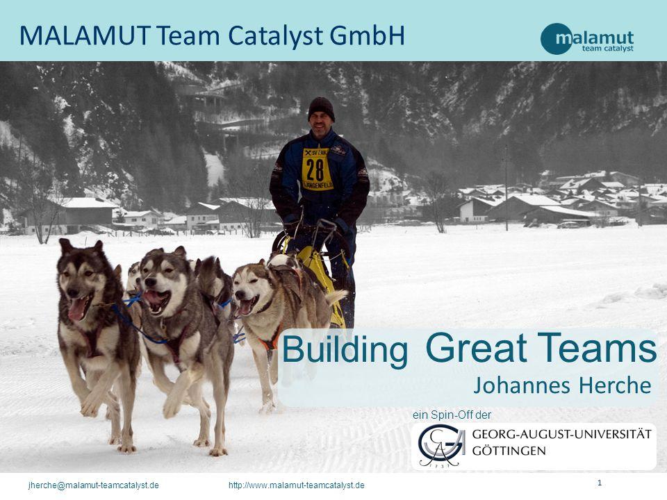 1 jherche@malamut-teamcatalyst.de http://www.malamut-teamcatalyst.de MALAMUT Team Catalyst GmbH Johannes Herche Building Great Teams ein Spin-Off der