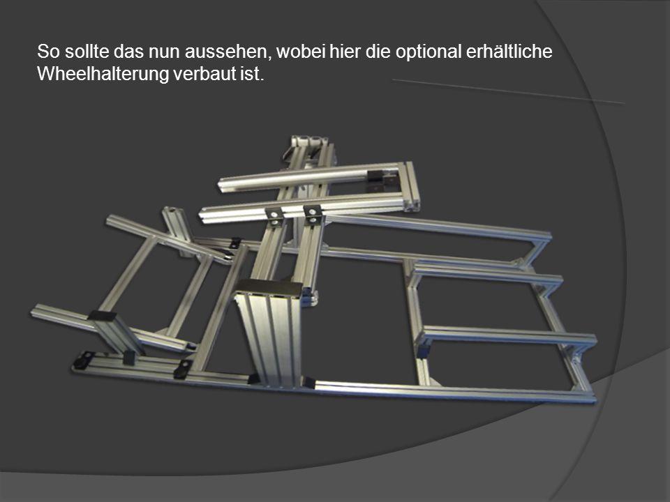 Das 100cm Profil incl. dem 20cm Profil ergeben mit 3 Winkel die Halterung für Shifter, Handbrake usw.