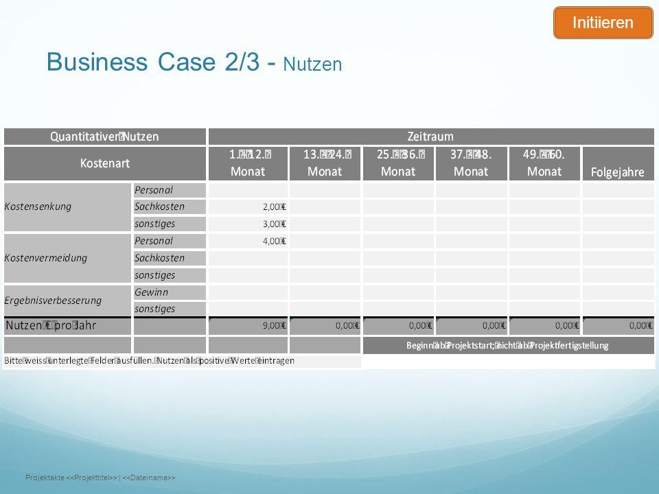Business Case 2/3 - Nutzen Projektakte >   > Initiieren