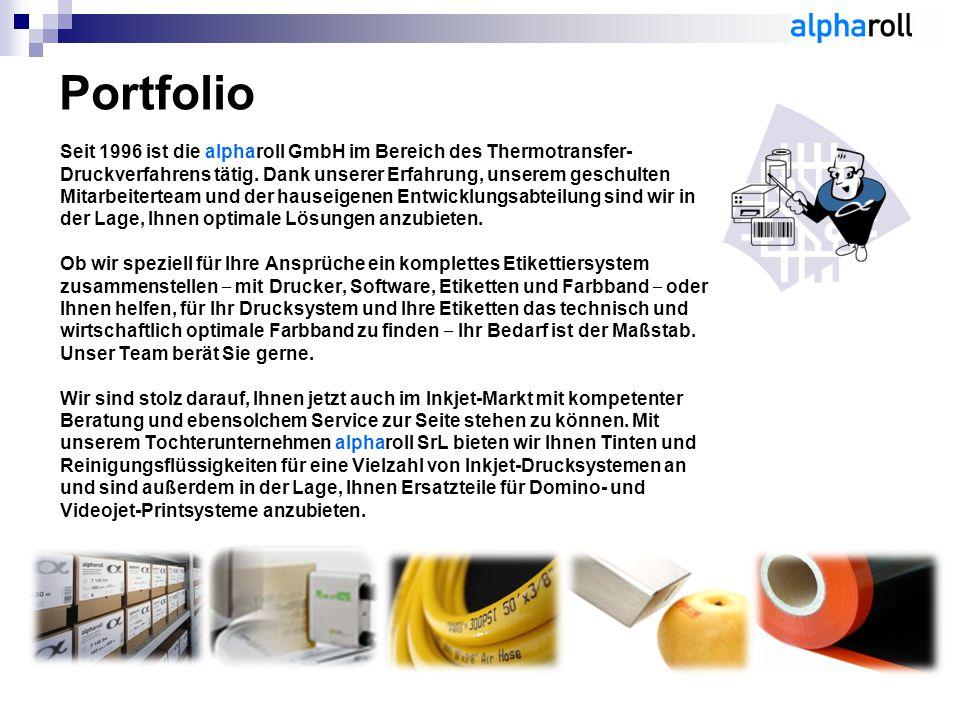 Seit 1996 ist die alpharoll GmbH im Bereich des Thermotransfer- Druckverfahrens tätig. Dank unserer Erfahrung, unserem geschulten Mitarbeiterteam und