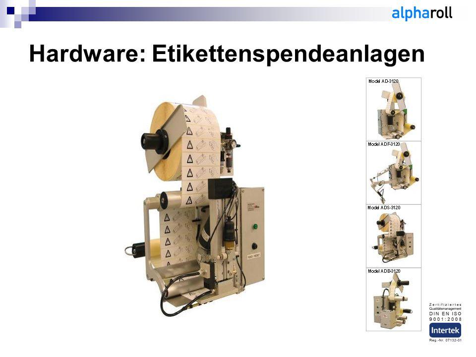 Hardware: Etikettenspendeanlagen