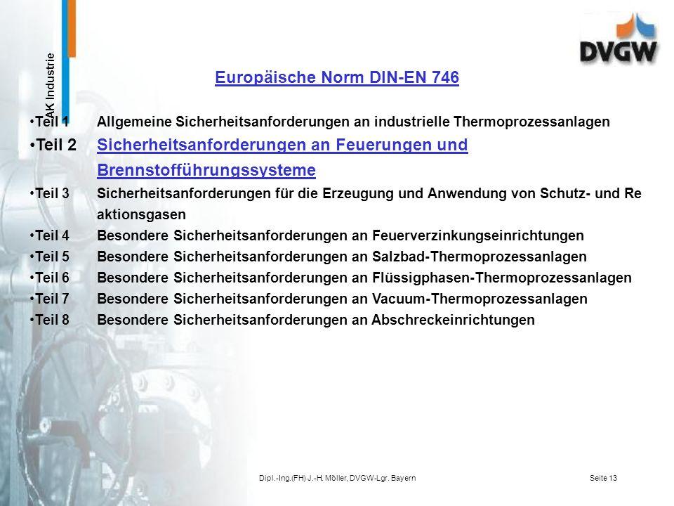 AK Industrie Dipl.-Ing.(FH) J.-H. Möller, DVGW-Lgr. BayernSeite 12 Übersicht