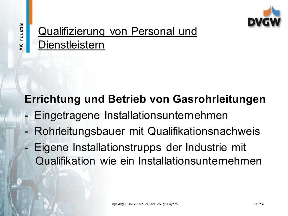 AK Industrie Sachkundigenschulung Praxis der Überwachung und Wartung von Gasdruckregelstrecken nach dem DVGW-Arbeitsblatt G 495 und der DIN-EN 746-2 auf Werksgelände Dipl.