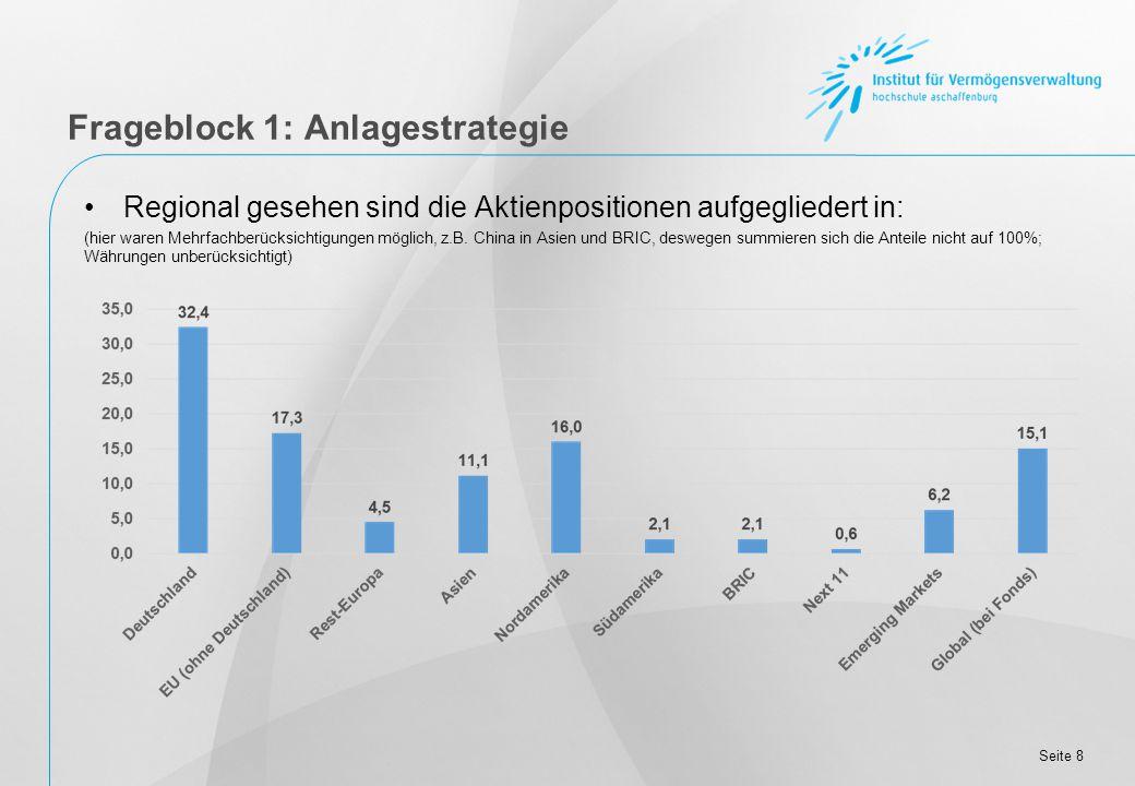 Seite 19 Die Kunden sind durchschnittlich: Frageblock 2: Kundenstruktur