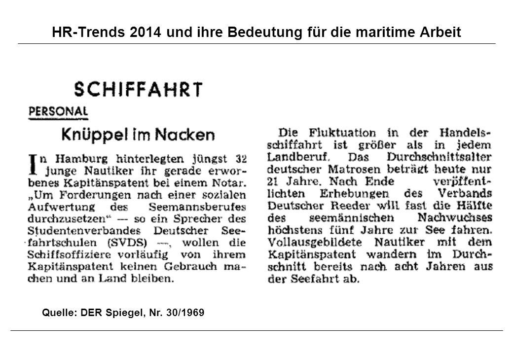HR-Trends 2014 und ihre Bedeutung für die maritime Arbeit Quelle: DER Spiegel, Nr. 30/1969