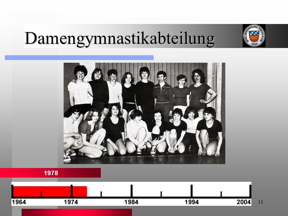 11 Damengymnastikabteilung 1978
