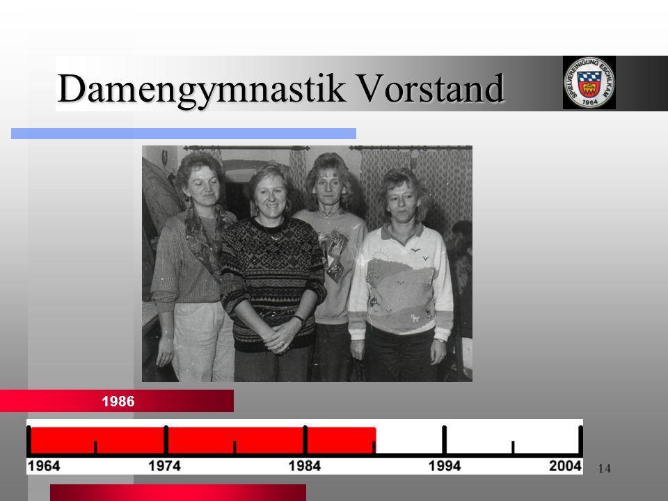 14 Damengymnastik Vorstand 1986