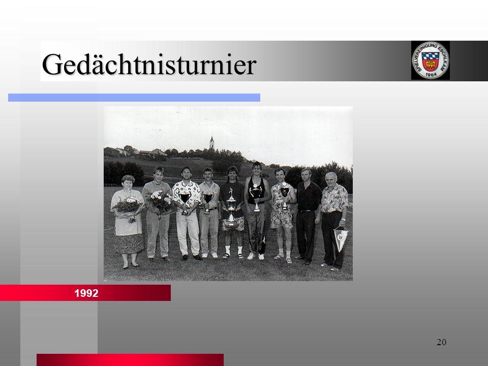 20 Gedächtnisturnier 1992