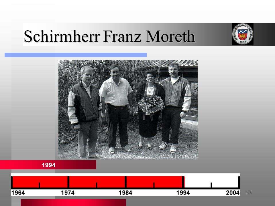 22 Schirmherr Franz Moreth 1994