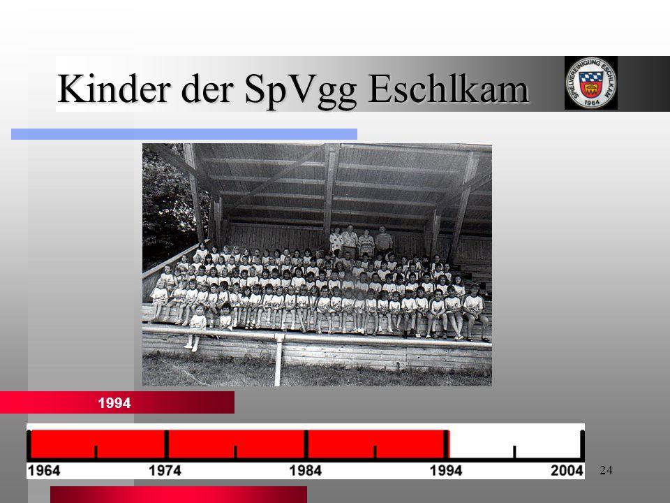 24 Kinder der SpVgg Eschlkam 1994