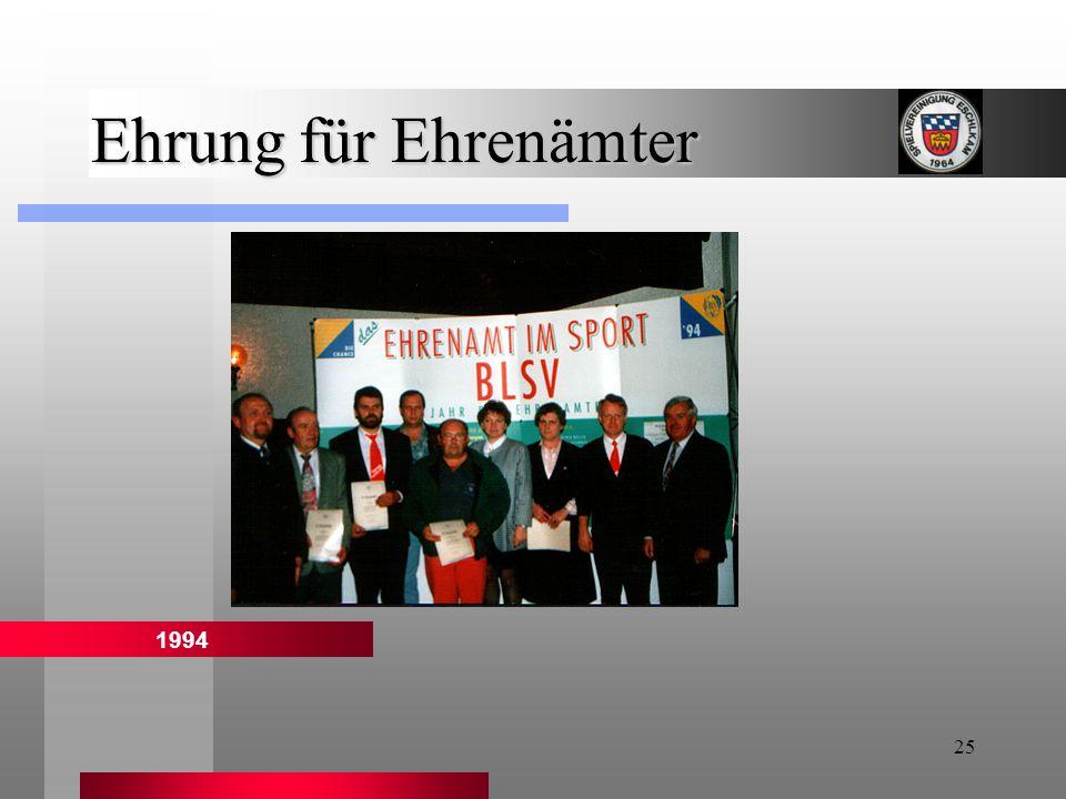 25 Ehrung für Ehrenämter 1994
