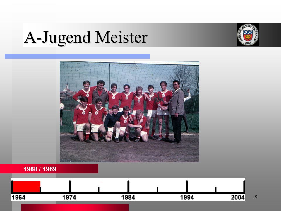 6 A-Jugend Meister 1972 / 1973