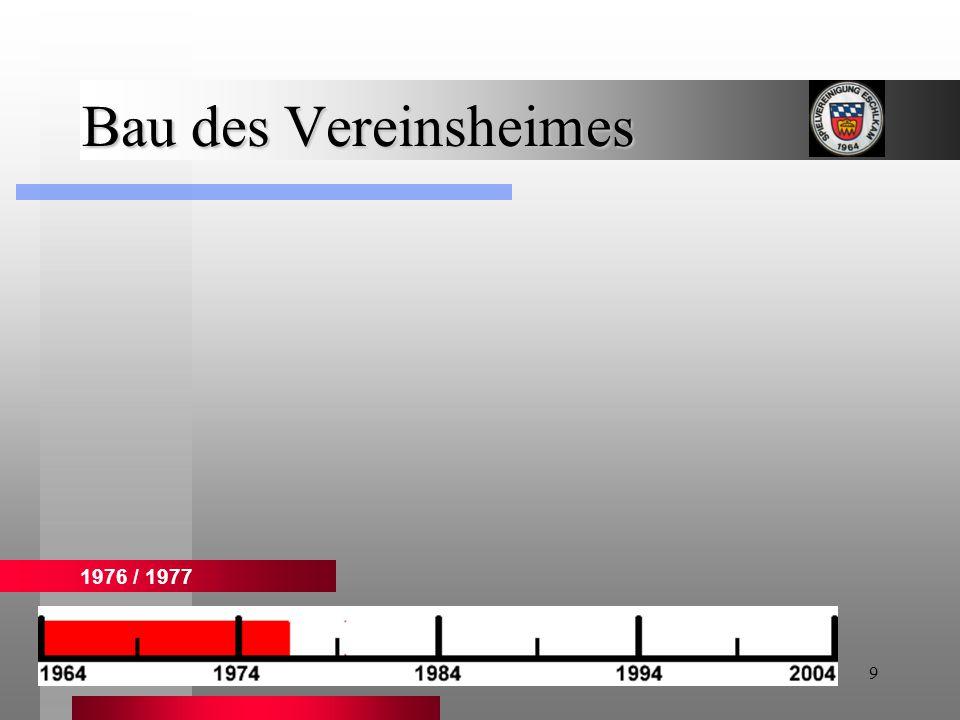 9 Bau des Vereinsheimes 1976 / 1977