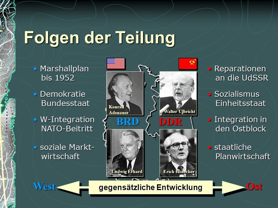 Der Westen reagierte auf die Berlinblockade mit der Gründung der Bundesrepublik Deutschland 1949 aus den 3 Westzonen sowie mit der Gründung der NATO (