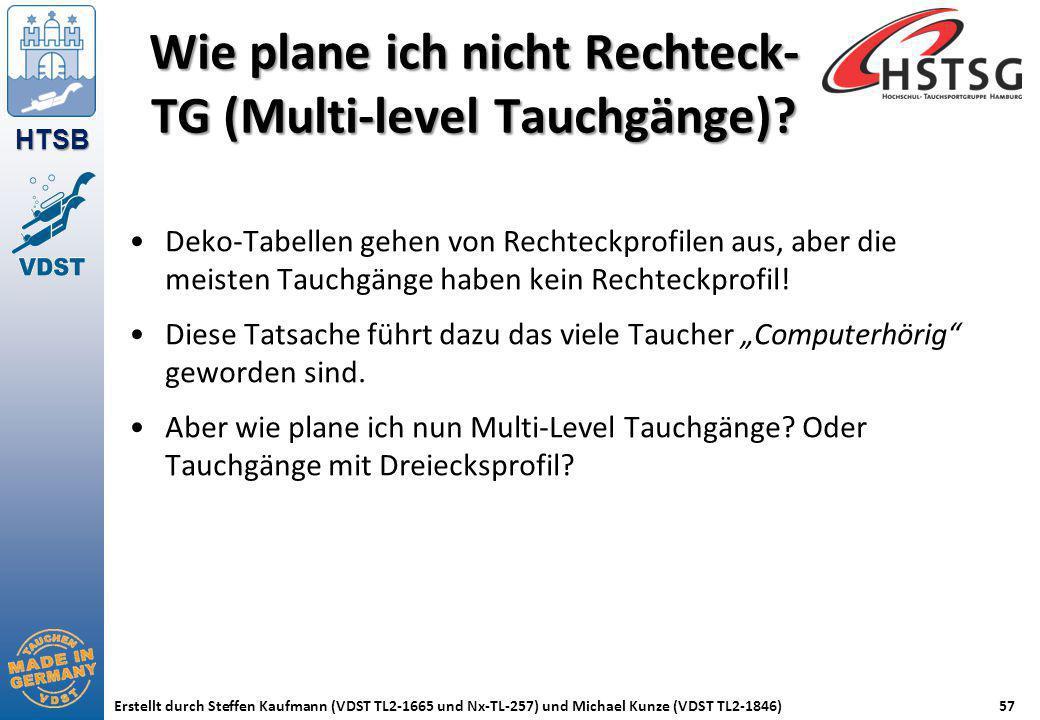 HTSB Erstellt durch Steffen Kaufmann (VDST TL2-1665 und Nx-TL-257) und Michael Kunze (VDST TL2-1846)57 Wie plane ich nicht Rechteck- TG (Multi-level T
