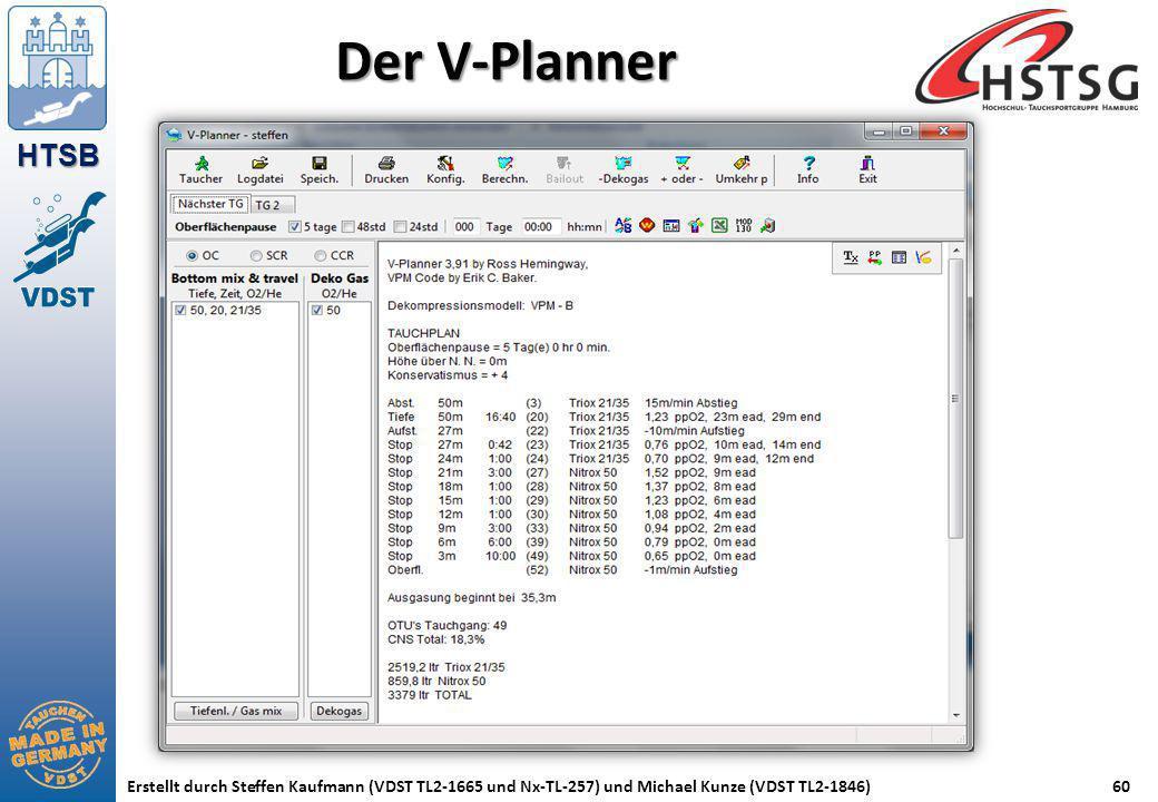 HTSB Erstellt durch Steffen Kaufmann (VDST TL2-1665 und Nx-TL-257) und Michael Kunze (VDST TL2-1846)60 Der V-Planner