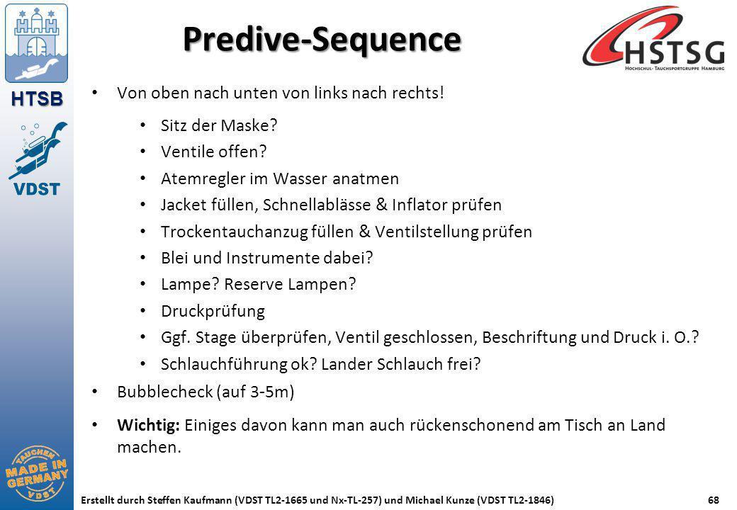HTSB Erstellt durch Steffen Kaufmann (VDST TL2-1665 und Nx-TL-257) und Michael Kunze (VDST TL2-1846)68 Predive-Sequence Von oben nach unten von links