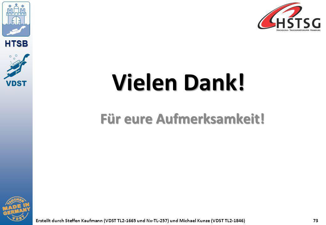 HTSB Erstellt durch Steffen Kaufmann (VDST TL2-1665 und Nx-TL-257) und Michael Kunze (VDST TL2-1846)73 Vielen Dank! Für eure Aufmerksamkeit!