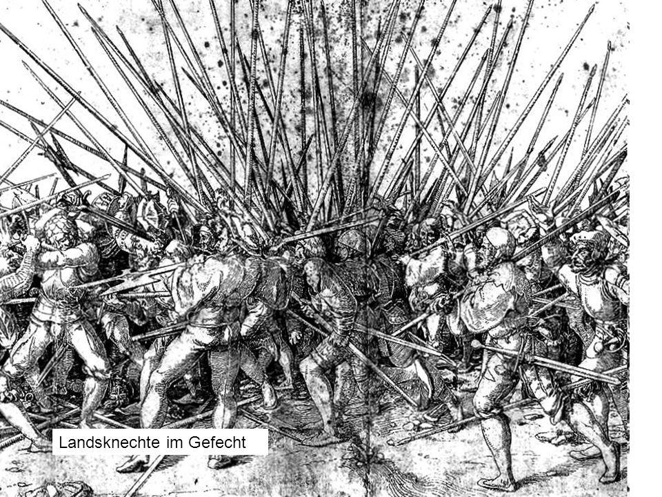 Landsknechte im Gefecht