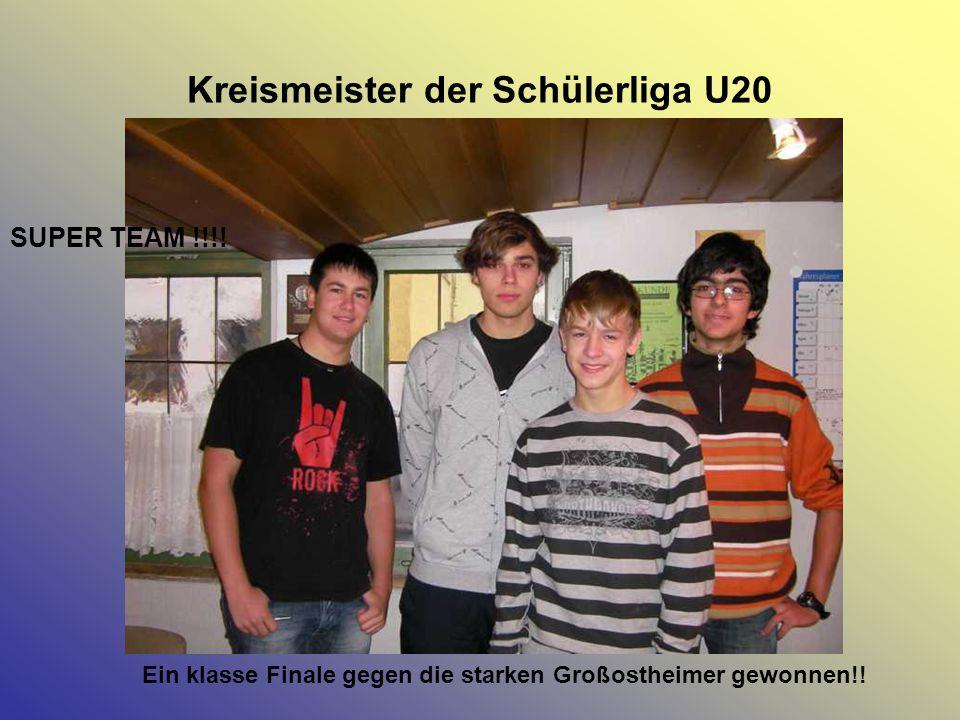 Kreismeister der Schülerliga U20 Ein klasse Finale gegen die starken Großostheimer gewonnen!! SUPER TEAM !!!!