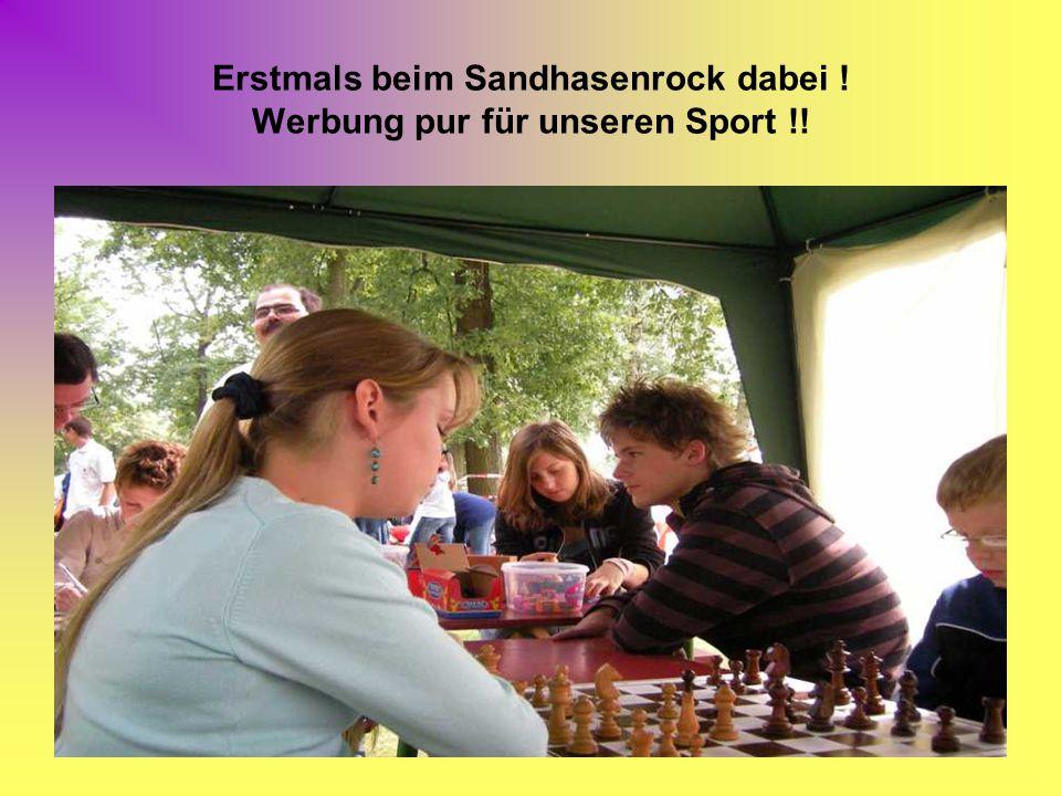 Erstmals beim Sandhasenrock dabei ! Werbung pur für unseren Sport !!