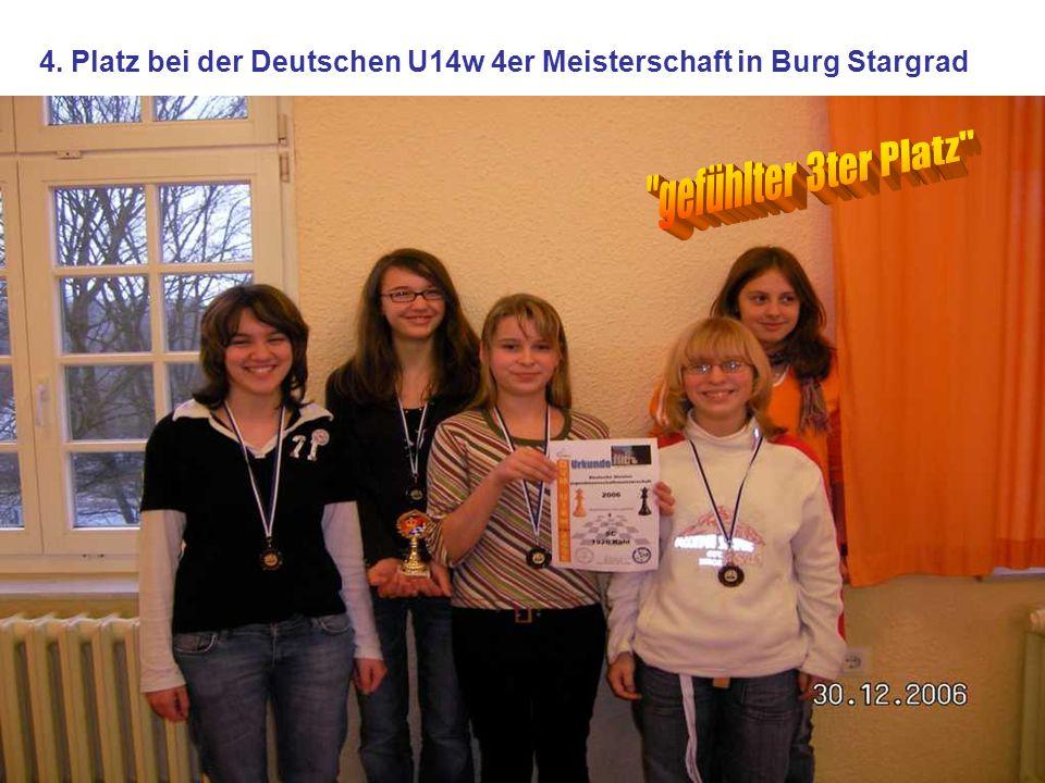 4. Platz bei der Deutschen U14w 4er Meisterschaft in Burg Stargrad