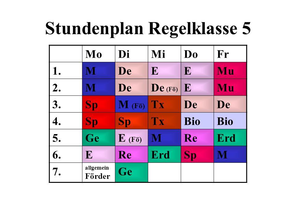 MoDiMiDoFr 1.MDeEEMu 2.MDeDe (Fö) EMu 3.SpM (Fö) TxDe 4.Sp TxBio 5.GeE (Fö) MReErd 6.EReErdSpM 7.