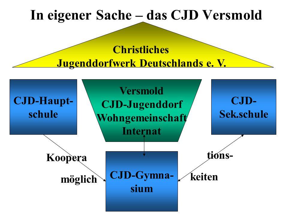 In eigener Sache – das CJD Versmold Christliches Jugenddorfwerk Deutschlands e.