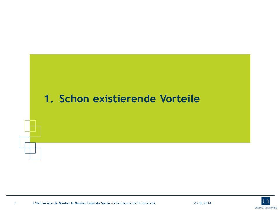 Eine Stellungnahme seit mehreren Jahren 21/08/2014L'Université de Nantes et Nantes Capitale Verte – Présidence de l'Université2 Sowie der Staat, die Länder, die Vereinigungen oder die Unternehmen lassen sich seit einigen Jahren die Universitäten auf Massnahmen für dauerhafte Entwicklung ein (Grüner Plan, Grenelle I Gesetz…) Die Uni Nantes hat Achtung vor verschiedenen Gesetzen.