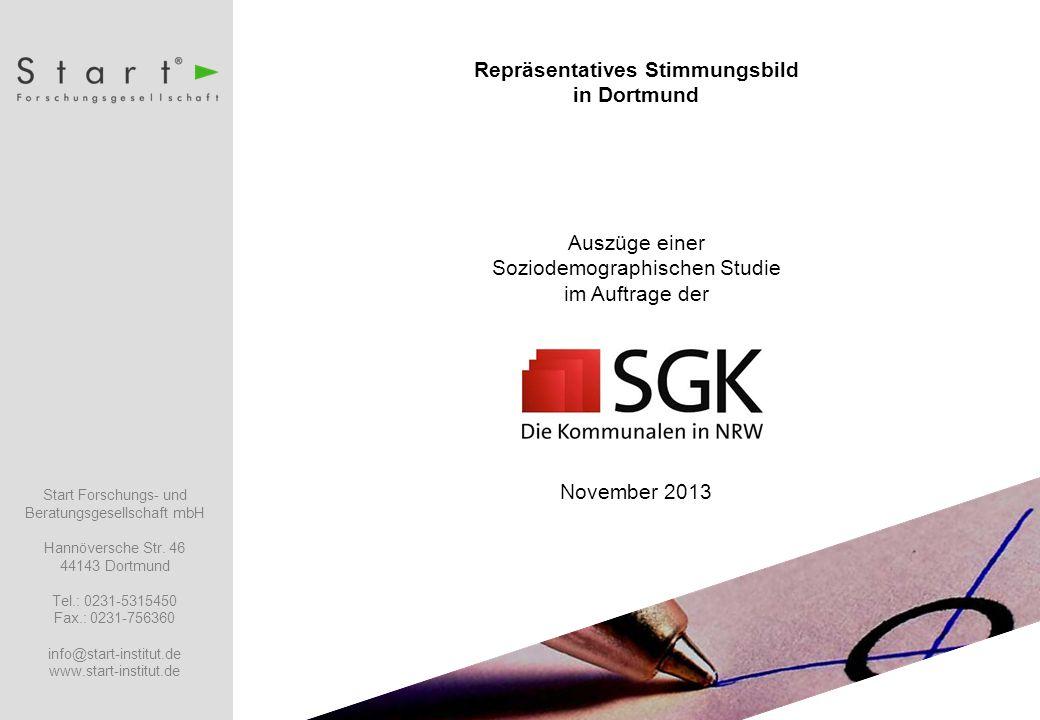 Soziodemographische Studie November 2013 Start Forschungs- und Beratungsgesellschaft mbH Hannöversche Str.