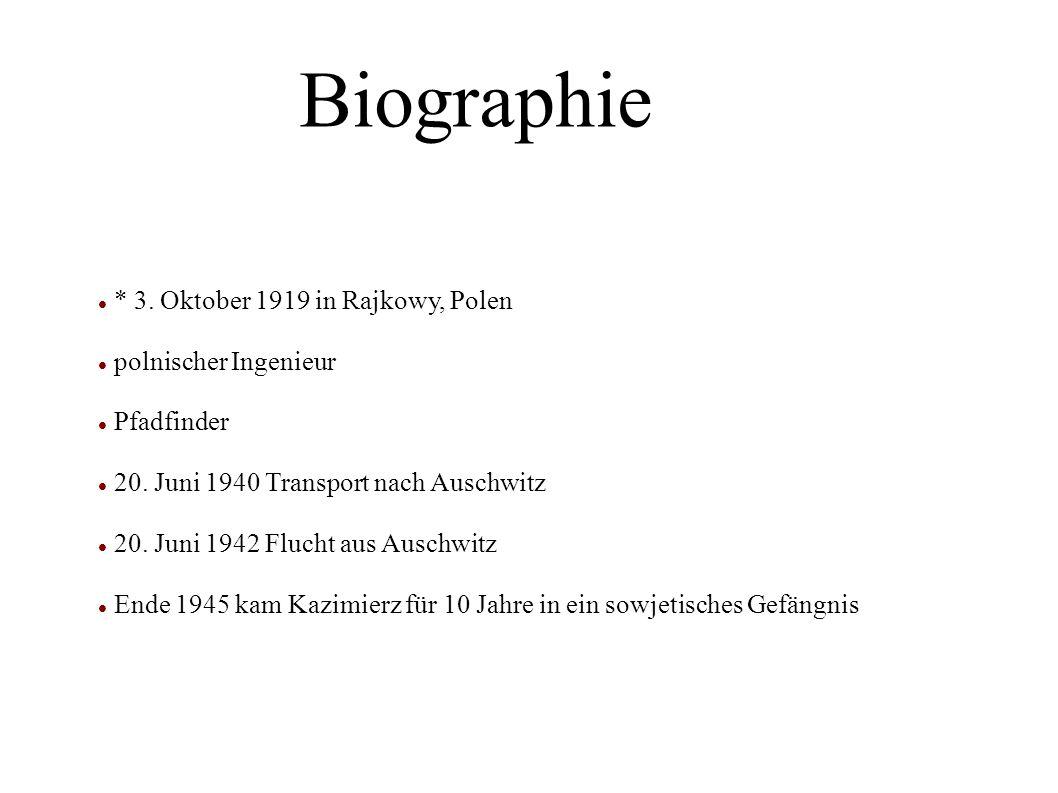 * 3.Oktober 1919 in Rajkowy, Polen polnischer Ingenieur Pfadfinder 20.