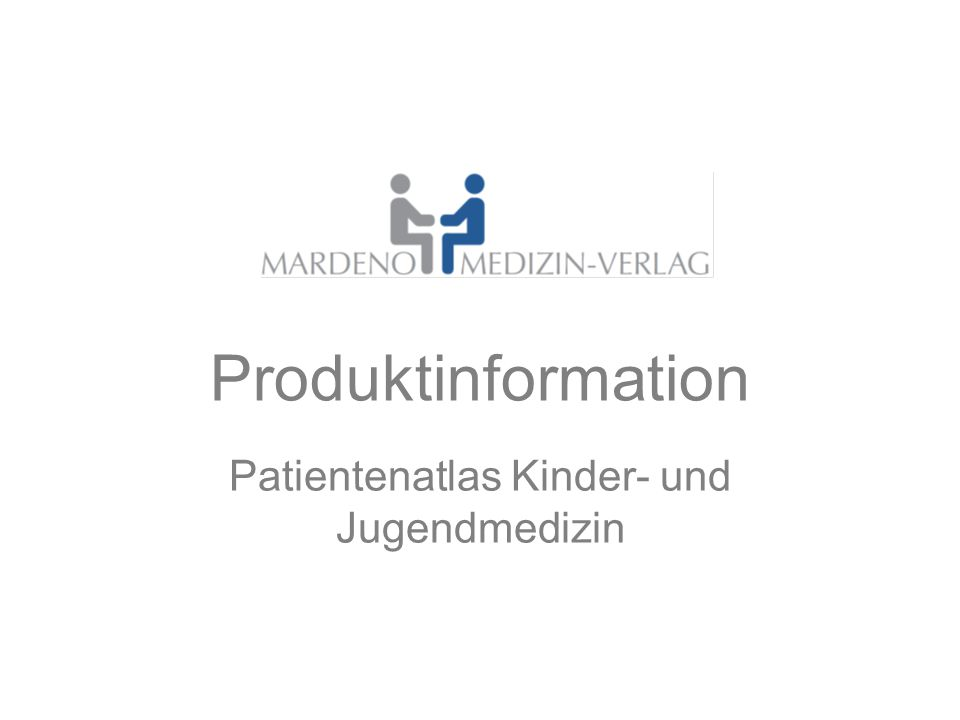 Produktinformation Patientenatlas Kinder- und Jugendmedizin