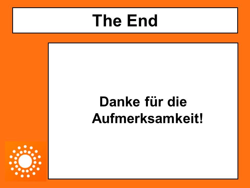 The End Danke für die Aufmerksamkeit!