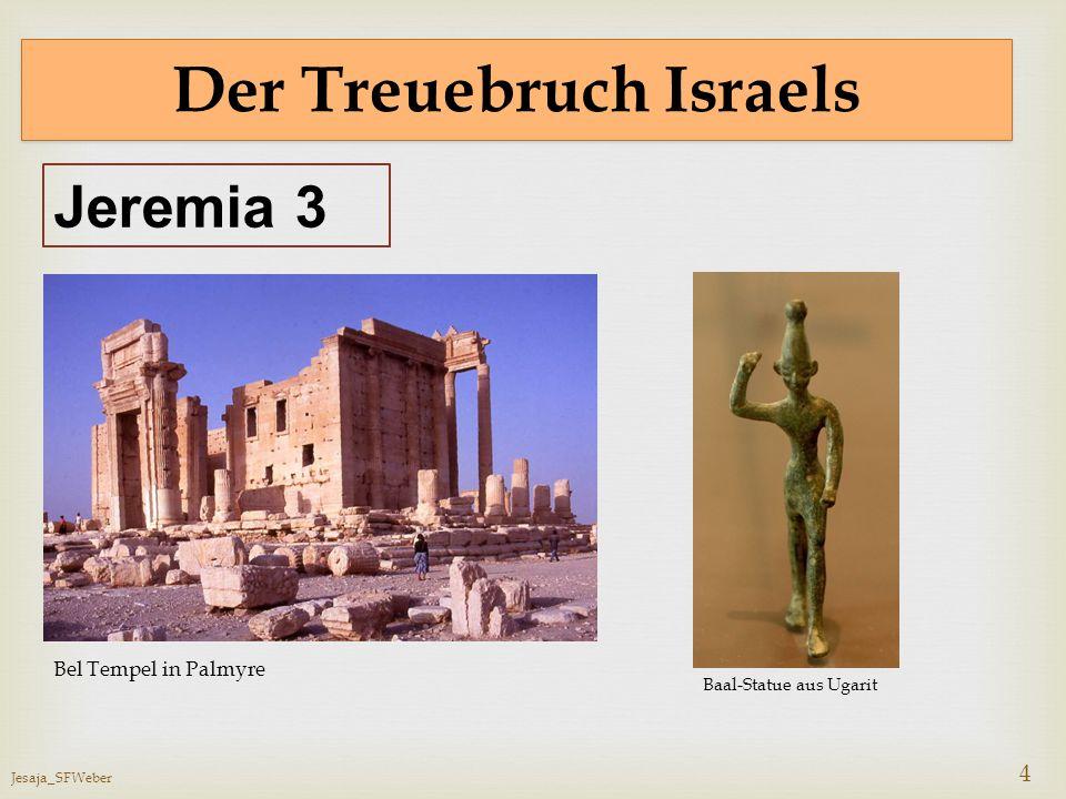 Jesaja_SFWeber 5 Der Treuebruch und die Folgen Verstoßen (Jesaja 54, 6) Augenblick verlassen (Jesaja 54, 8) Angesicht verborgen (Jesaja 54, 8; 59, 1-2) Weltweite Zerstreuung Land Israel wird zur Wüste