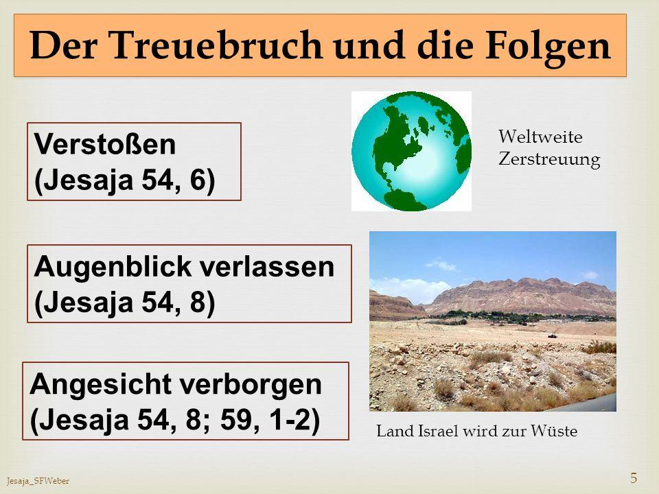 Jesaja_SFWeber 5 Der Treuebruch und die Folgen Verstoßen (Jesaja 54, 6) Augenblick verlassen (Jesaja 54, 8) Angesicht verborgen (Jesaja 54, 8; 59, 1-2