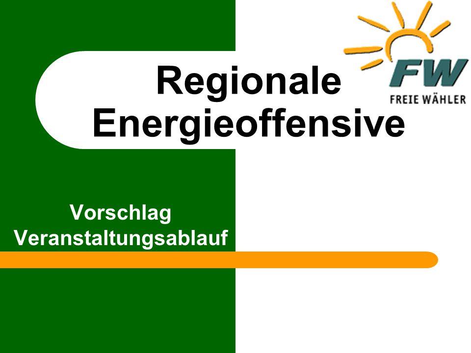 Regionale Energieoffensive Vorwort Liebe Freie Wähler, in Bad Rodach haben die Delegierten mit 98 % Mehrheit eine Resolution zugunsten der regenerativen Energien beschlossen.