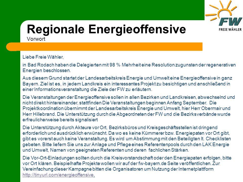 Regionale Energieoffensive Vorschlag Veranstaltungsablauf ca.